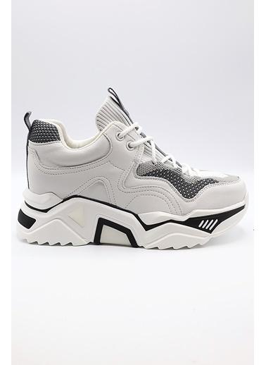 La scada Guja Grı Kadın Spor Ayakkabı Y321 Gri